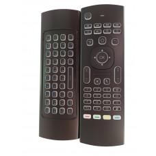 Пульт управления  с рус. клавиатурой   Air Mouse черный гироскоп +голос MX3