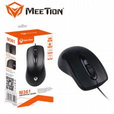 Проводная оптическая мышка Mouse черная  M361 ТМ. MeeTion