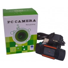 2020 Веб камера 720Р USB 2.0 черная  + Audio шнур 3,5 Джек