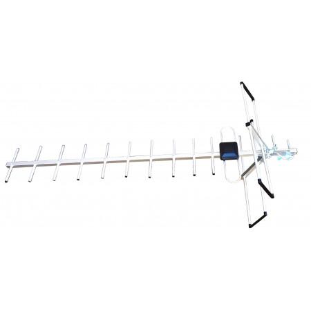 Наружная антенна HDА-2515 15елем. 1м. c усилителем до50км