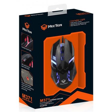 Проводная оптическая мышка Mouse черная  M371 ТМ. MeeTion
