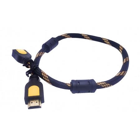 Кабель HDMI-HDMI c  ферритовыми фильтрами 0,5 м.
