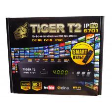 Т2 ресивер тюнер TIGER  T2 6701 Internet