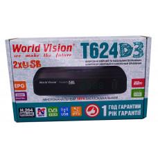 Т2 ресивер  World Vision T624D3 +IPTV