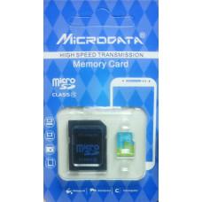 micro SDHC карта памяти MICRODATA 32GB class 10 (с адаптером)