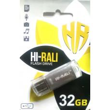 Флеш  Hi-Rali 32GB Rocket series Silver