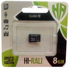 micro SDHC карта памяти HI-RALI  8GB class 10 (без адаптера)