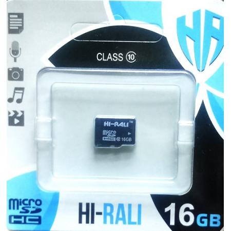 micro SDHC карта памяти HI-RALI  16GB class 10 (без адаптера)