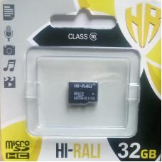 micro SDHC карта памяти HI-RALI  32GB class 10 (без адаптера)