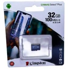 micro SDHC карта памяти Kingston 32GB class 10 (без адаптера)
