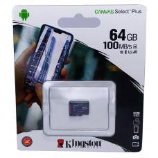 micro SDHC карта памяти Kingston 64GB class 10 (без адаптера)