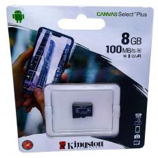 micro SDHC карта памяти Kingston 8GB class 10 (без адаптера)