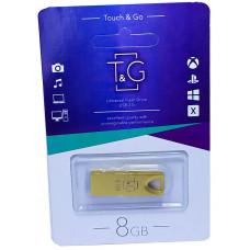 USB флеш T&G 117 золото Metal series 8GB