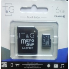 micro SDHC карта памяти T&G 16GB class 10 (с адаптером)