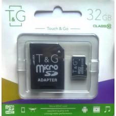 micro SDHC карта памяти T&G 32GB class 10 (с адаптером)