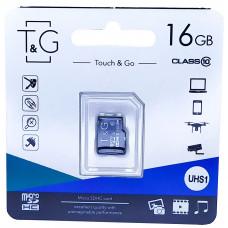 micro SDHC карта памяти T&G 16GB class 10 (без адаптера)