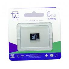 micro SDHC карта памяти T&G 8GB class 10 (без адаптера)
