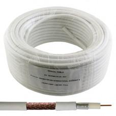 Коаксиальный кабель RG-6 EUROSAT F604ST белый 25м 48ж.   Жила омедненная , оплетка медь.