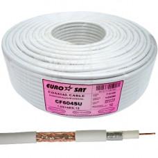 Коаксиальный кабель RG-6 EUROSAT CF604SU 48ж.  Белый 100м. Медь