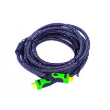 Кабель HDMI-HDMI c ферритовыми фильтрами 5 м. зелёный .